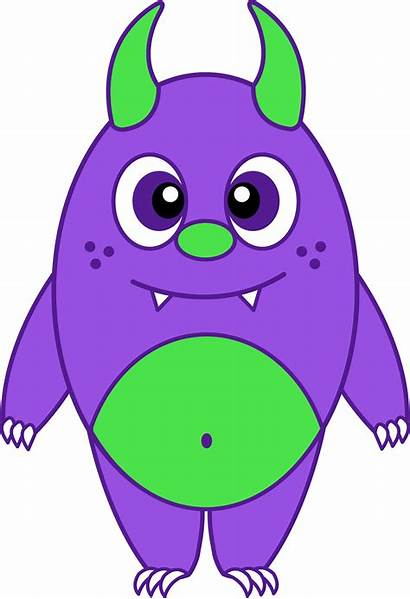 Monster Purple Silly Clipart Clip Funny Imaginary