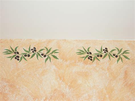 frise murale cuisine décoration provençale les frises au pochoir en provence