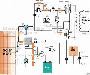 100 Amp Solar Charger  Inverter Circuit