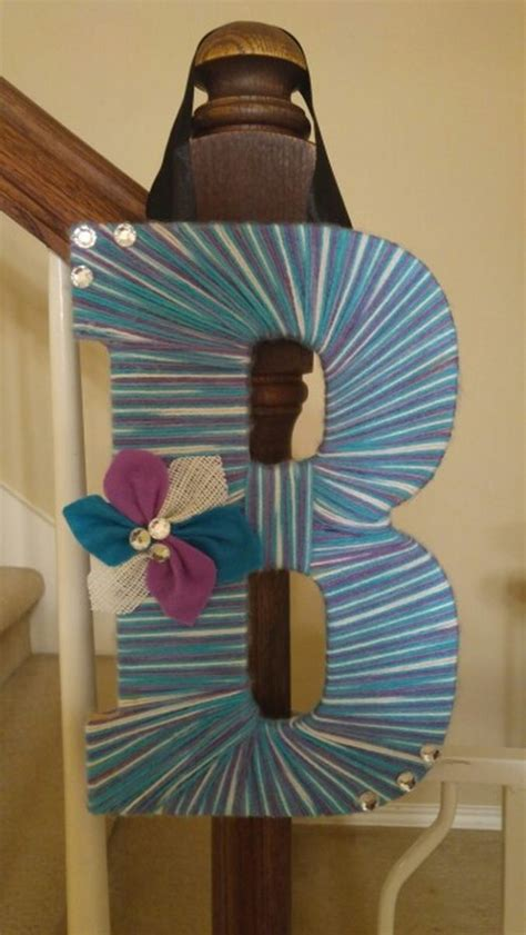 beautiful ombre yarn monogram letters craft