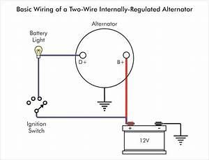 Delco Alternator Wiring Schematic One Wire And Diagram