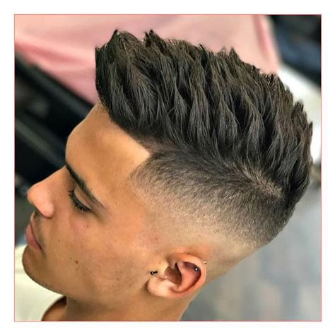 Haircut Style For Mens with High Skin Fade Textured Spiky