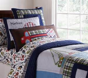 Pottery Barn Toddler Bedding by Busy Builder Quilted Bedding Pottery Barn