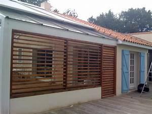Store Bois Exterieur : construction clausta et am nagement terrasse en loire ~ Farleysfitness.com Idées de Décoration