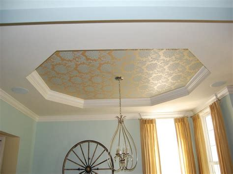 Home Design Exles Tray Ceiling Design With Wallpaper Home Design Exles