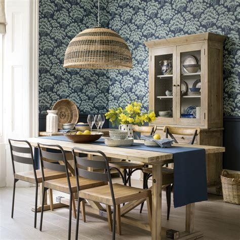 Black Dining Room Set And Interior Design Ideas Photos by Dining Room Wallpaper Ideas Dining Room With Wallpaper