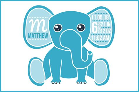 ✓ free for commercial use ✓ high quality images. Birth stats svg, birth stats template, elephant svg file ...