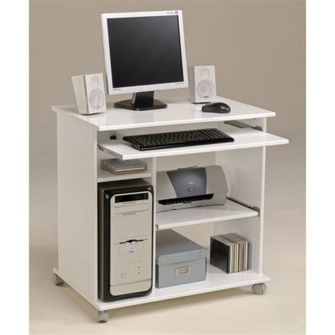bureau informatique cdiscount city bureau informatique contemporain blanc l 76 cm