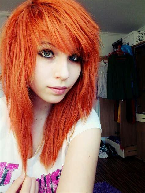Orange Emo Hair Pinned By Baki Hamma Emoscene Hair