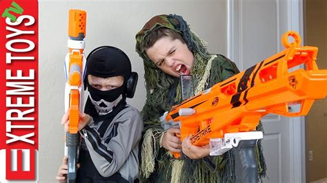 Will cole help him clean up? Nerf Battle Black Ops Edition! Cole Attacks Ethan with a ...