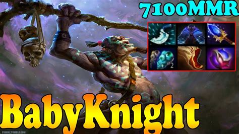 dota 2 babyknight 7100 mmr plays witch doctor vol 1 ranked match gameplay youtube