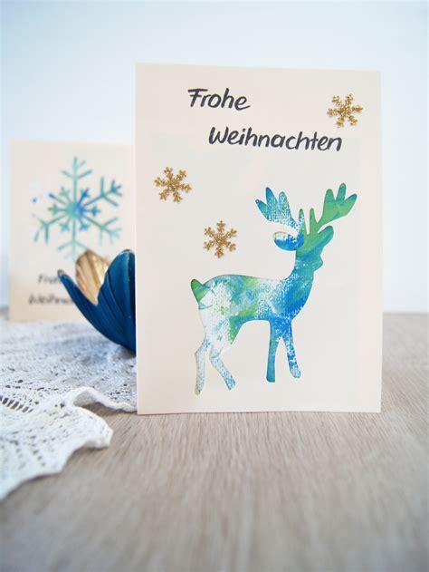 weihnachtskarten mit kleinkindern gestalten passepartout fantasiewerk