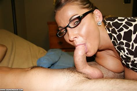 Naughty Mature Lady In Glasses Gives A Deepthroat Blowjob