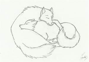 Cuddling Wolves [Sketch] by Informality1993 on DeviantArt