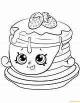 Pancakes Drawing Coloring Getdrawings Shopkins sketch template