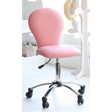 pink computer desk chair for study or bedroom