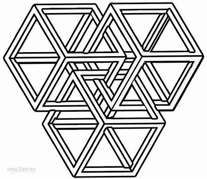 Shapes Coloring Pages Printable Geometric Cool2bkids Geometry