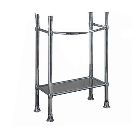 pedestal sink with metal legs enlarged image