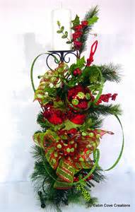 Christmas Floral Arrangements with Candles