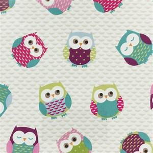 Tissu Enduit Pour Nappe : tissu enduit de coton fryett 39 s owls multicolore ~ Teatrodelosmanantiales.com Idées de Décoration