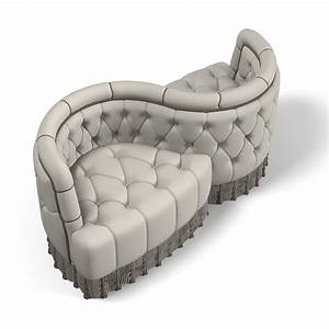 3d model courting s shape With s shaped sectional sofa