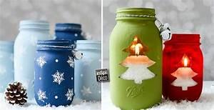 Pot En Verre Deco : d corations d 39 hiver avec des pots en verre recycl s 20 ~ Melissatoandfro.com Idées de Décoration