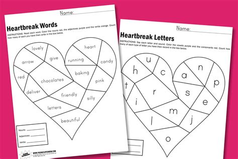 7 Best Images Of Valentine's Day Free Printable Worksheets  Free Printable Valentine's Day