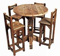 high table and chairs Furniture, Old Rustic Small High Round Top Kitchen Table ...