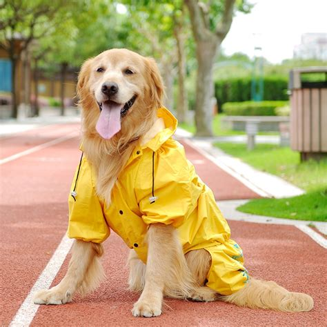 dog raincoat  large dogs outdoor clothing waterproof