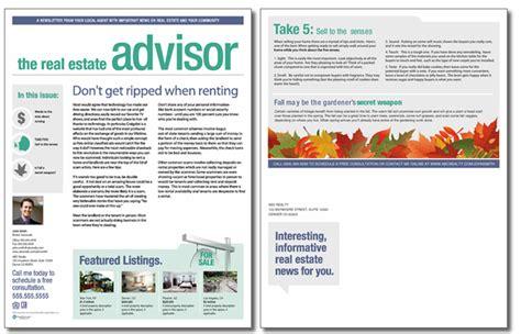 real estate newsletter templates real estate advisor newsletter template issue 6