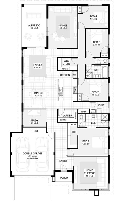 4 bedroom 1 house plans 25 best ideas about 4 bedroom house on 4 bedroom house plans blue open plan