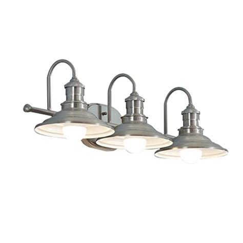 Bathroom Light Fixtures At Lowes by Shop Allen Roth 3 Light Hainsbrook Antique Pewter