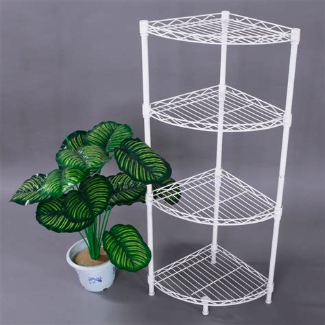 wire kitchen rack storage corner storage rack 4 tier rack shelf wire shelving garage 1557