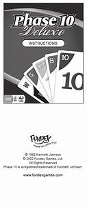 Fundex Games Phase 10 Deluxe Instructions Manual Pdf