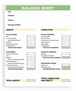 Accounting Balance Sheet Template Excel Balance Sheet ...