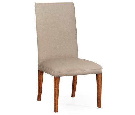 fully upholstered dining chair side