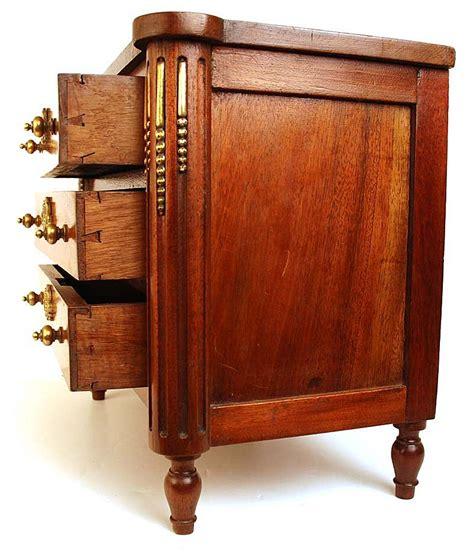 commode bureau antique nineteenth century miniature mahogany