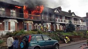House On Fire In Dover Kent Uk Barton Road