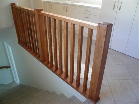 Wooden Banister by Wood Staircase Banisters See Rustic Wood Railing Http