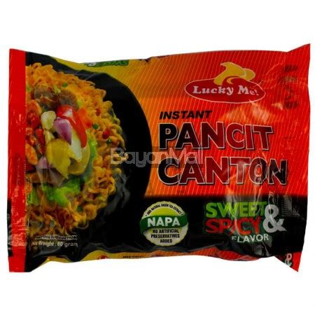 lucky  instant pancit canton sweet spicy flavor