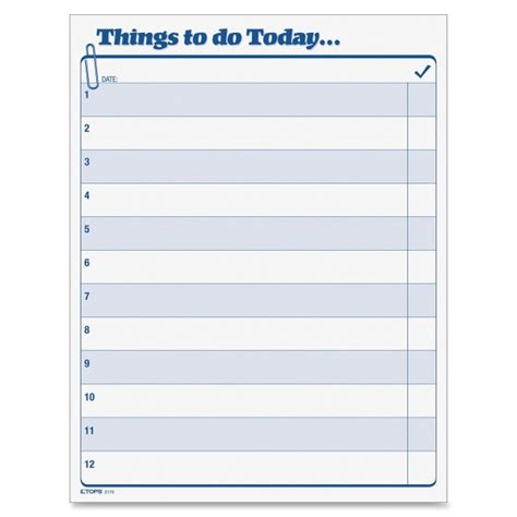 things to do template printer