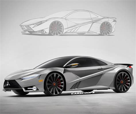 mitsubishi gt concept rendered   acura nsx