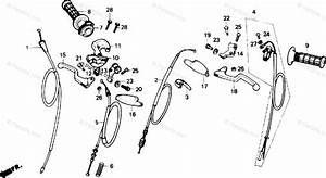 Honda Motorcycle 1986 Oem Parts Diagram For Handle Lever