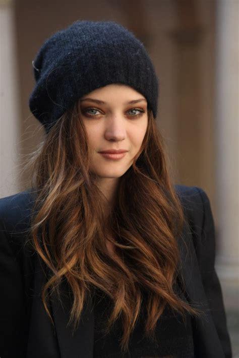loose waves  winter hat women hairstyles
