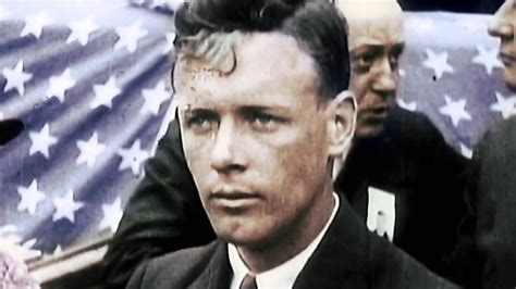 in color charles lindbergh in color