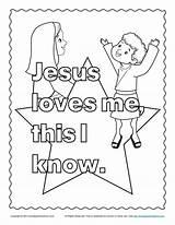 Jesus Coloring Children Bible Loves Activity sketch template