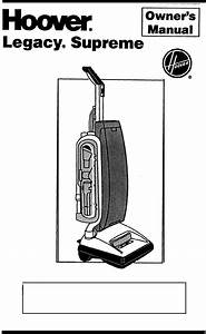 Hoover Vacuum Cleaner S2200 User Guide
