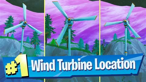 visit  wind turbines   single match fortnite