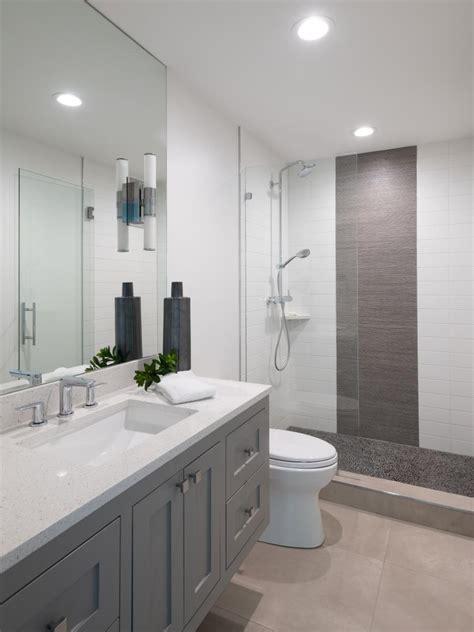 guest bath  pebble tile walk  shower hgtv