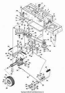 Mtd 13au678g131  2002  Parts Diagram For Drive  Controls  Wheels Rear